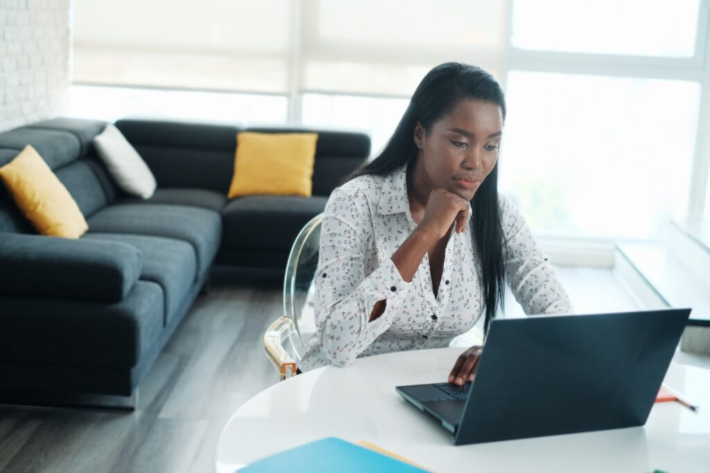 Communicating with remote teams on laptop